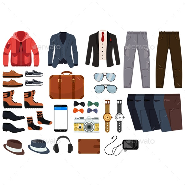 Male Fashion Accessories - Man-made Objects Objects