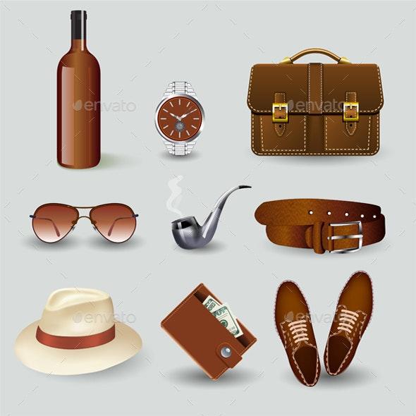 Elegant Businessmen Accessories - Miscellaneous Vectors