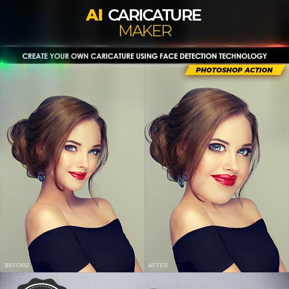 AI Caricature Maker - Photoshop Action