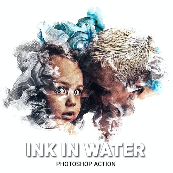 Ink in Water Photoshop Action