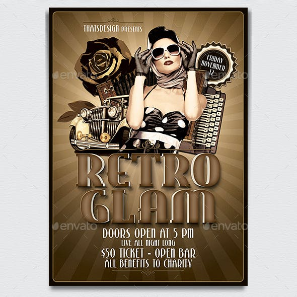 Retro Glam Flyer Template V1