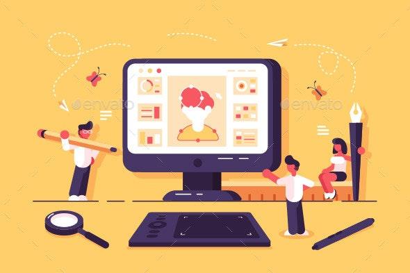 Web Specialists Working in Design Studio - Industries Business