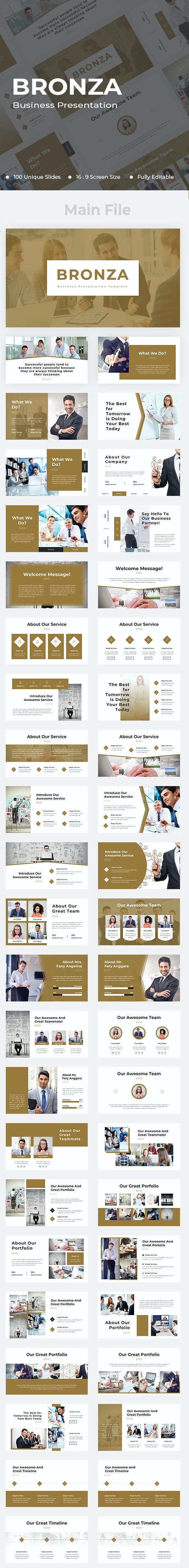 Bronza Business Google Slides - Google Slides Presentation Templates
