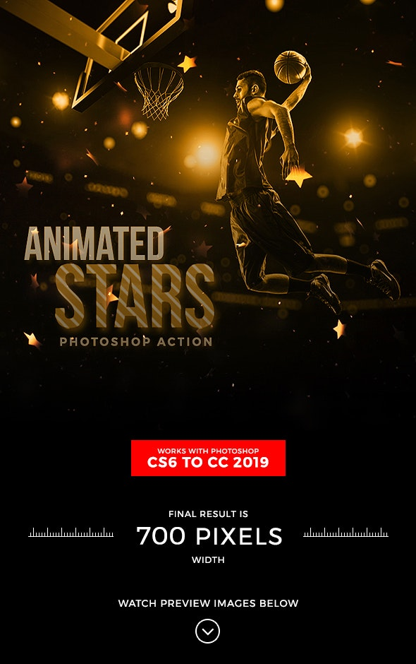 Animated Stars Photoshop Action - Photo Effects Actions