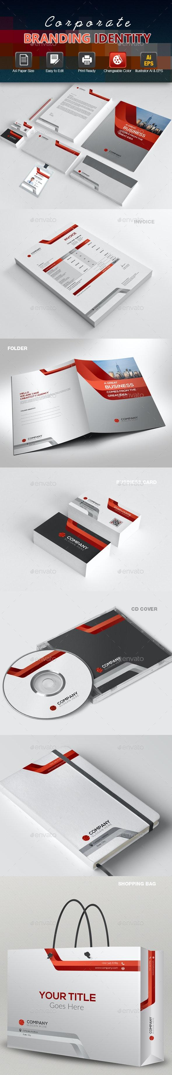 Corporate Branding Identity - Stationery Print Templates