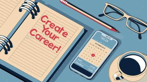 Create Your Career Concept - Backgrounds Business