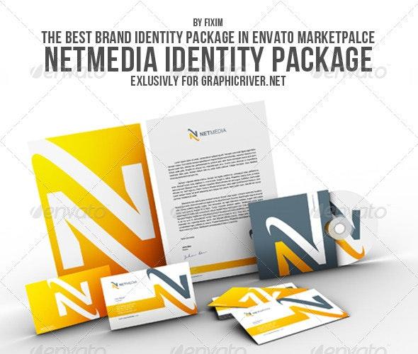 NetMedia Identity Package - Stationery Print Templates