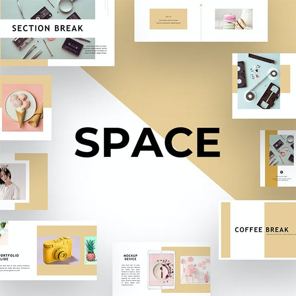 Space - Pastel Color PowerPoint Template