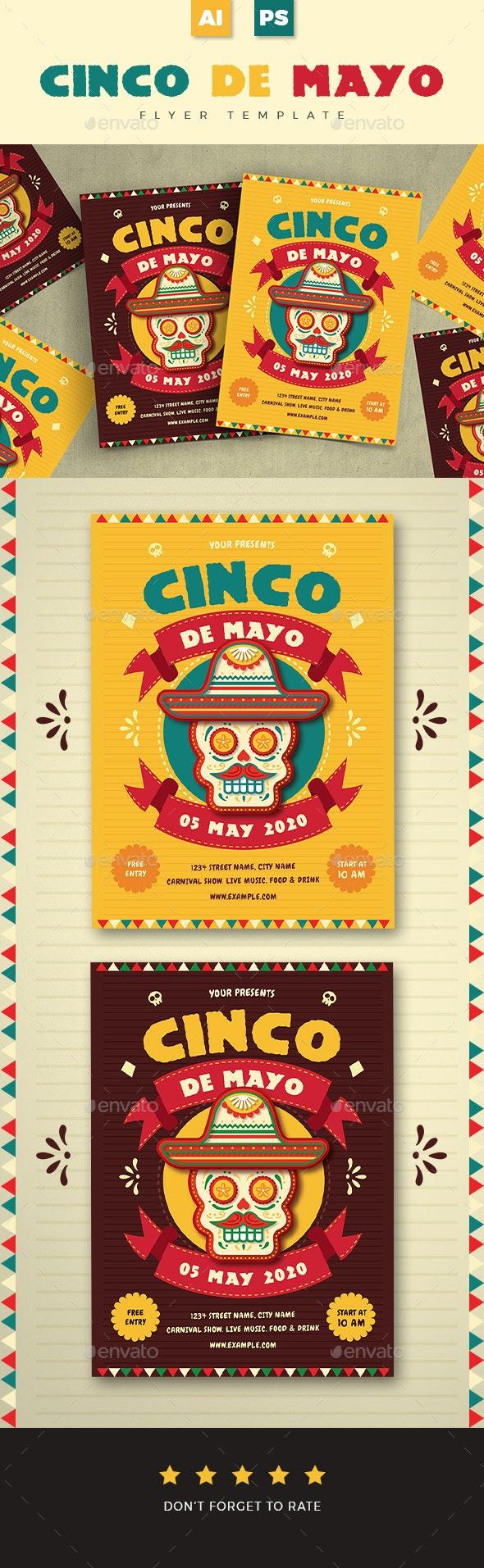 Cinco De Mayo Event Flyer 01 - Holidays Events
