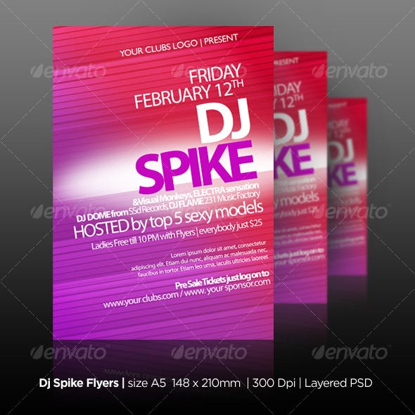 DJ Spike Flyers