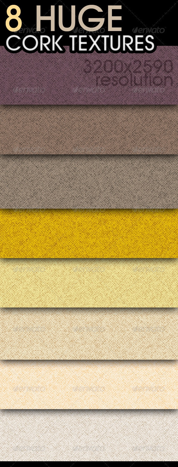 8 Huge Cork Textures - Fabric Textures