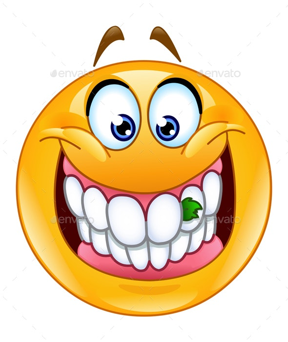 Food Stuck in Teeth Emoticon - People Characters