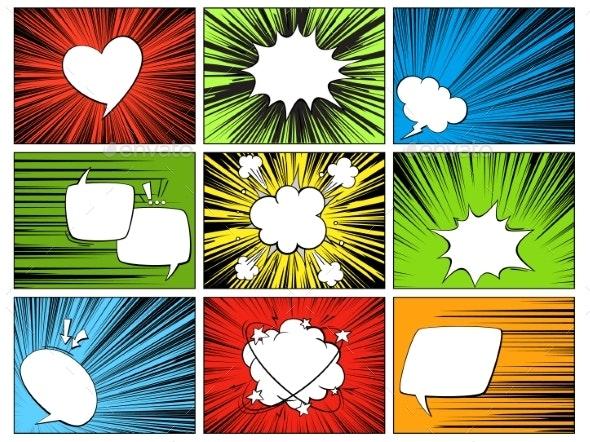 Speech Radial Elements - Miscellaneous Vectors