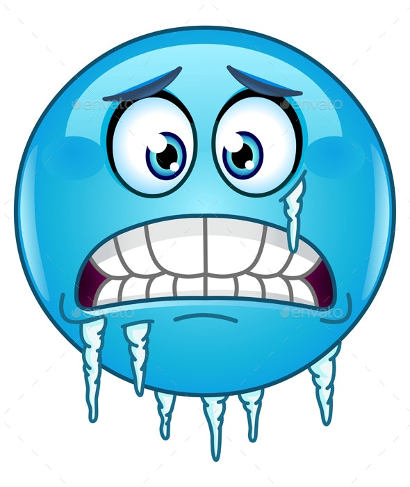 Freezing Emoticon - People Characters