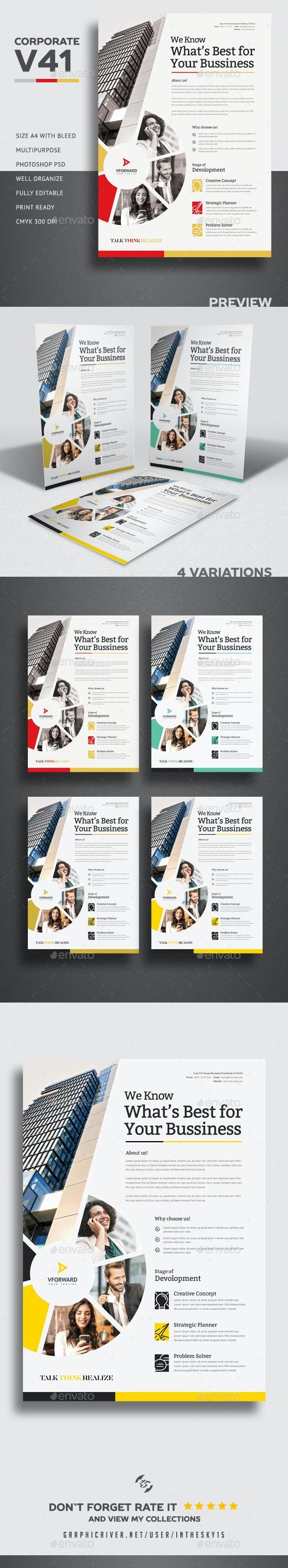 Corporate V41 Flyer - Flyers Print Templates