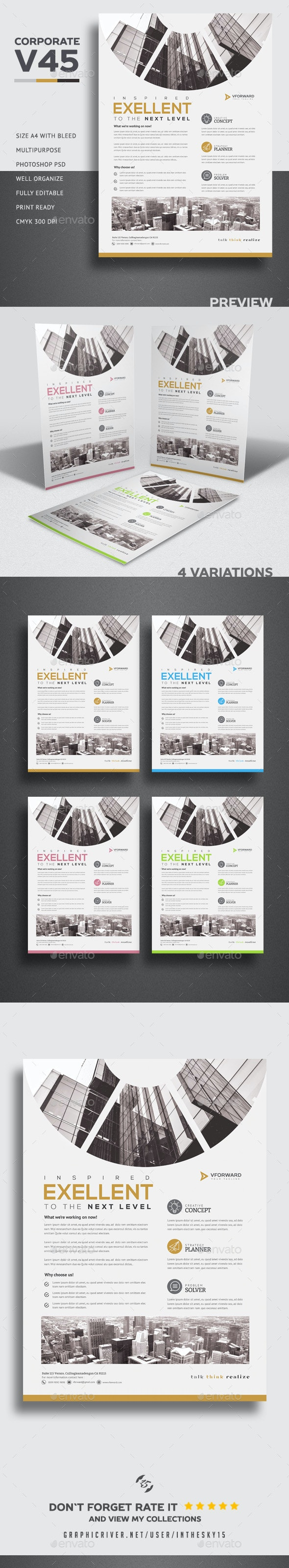Corporate V45 Flyer - Corporate Flyers