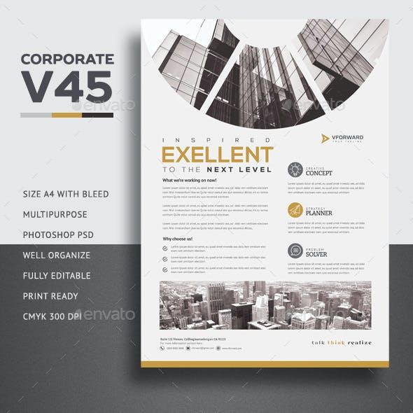 Corporate V45 Flyer