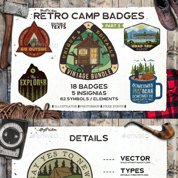 Retro Camp Badges / Patches. Part 3