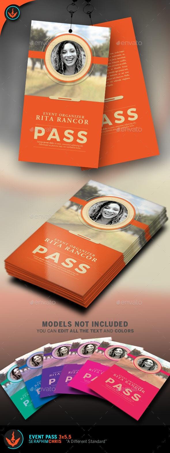 Event Pass Template - Miscellaneous Print Templates
