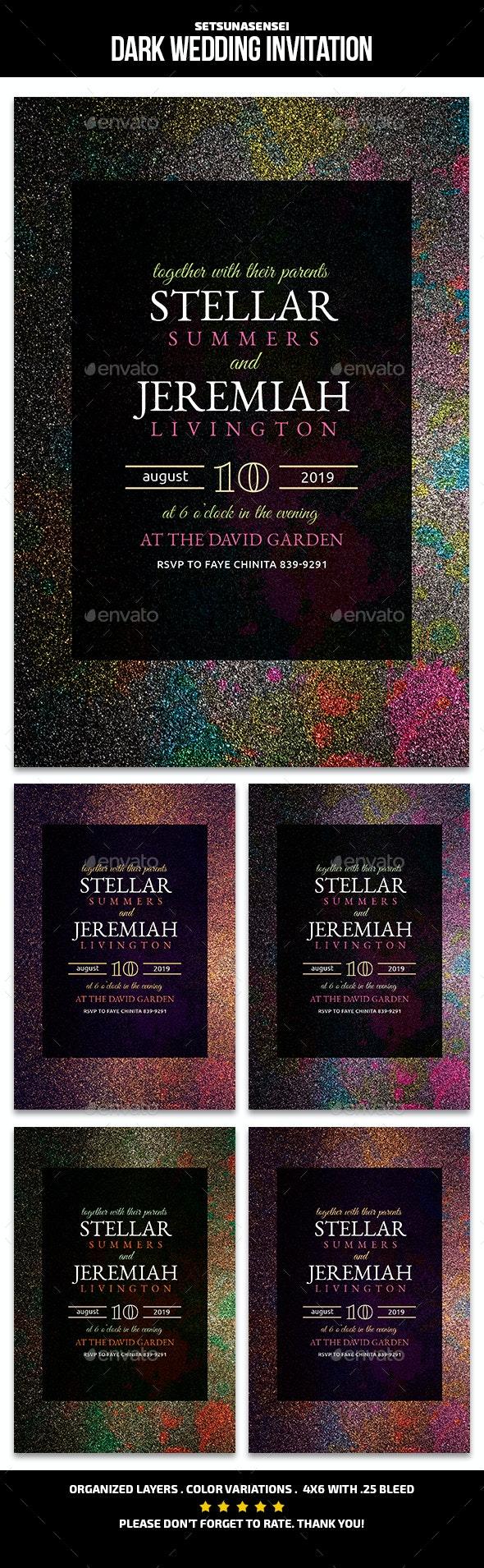 Dark Wedding Invitation - Weddings Cards & Invites