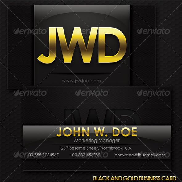 Black And Gold Exclusive Business Card