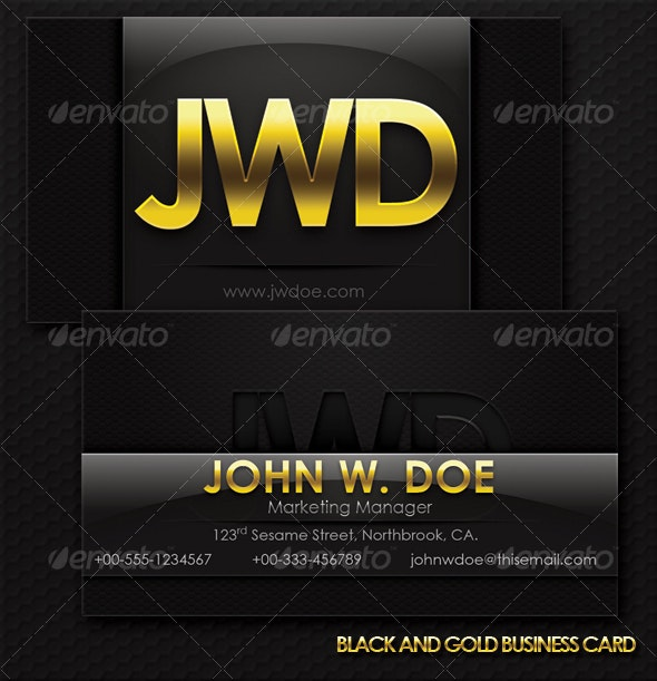 Black And Gold Exclusive Business Card - Corporate Business Cards