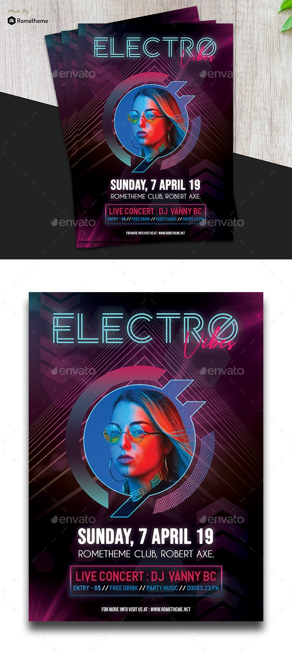 Electro Music Flyer vol.01 - Events Flyers