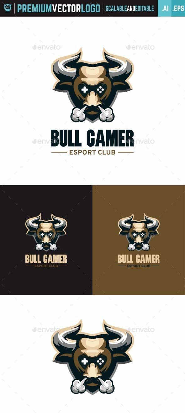 Bull Gamer Logo - Animals Logo Templates