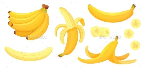 Cartoon Bananas - Food Objects