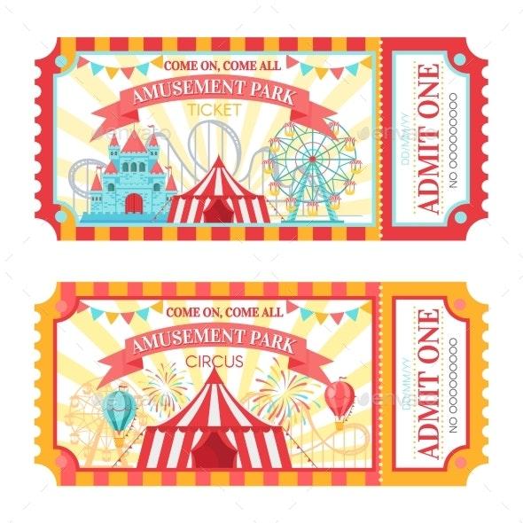 Amusement Park Tickets - Miscellaneous Vectors