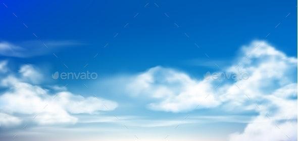 Clouds in Blue Sky - Landscapes Nature