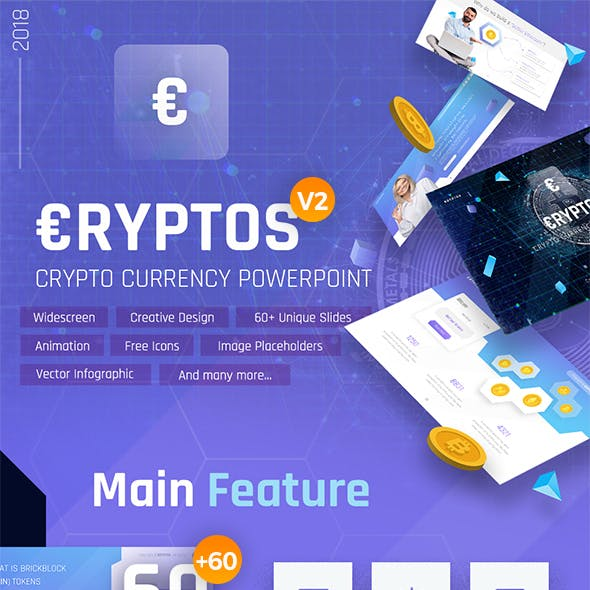 Cryptos - Crypto Currency PowerPoint Template