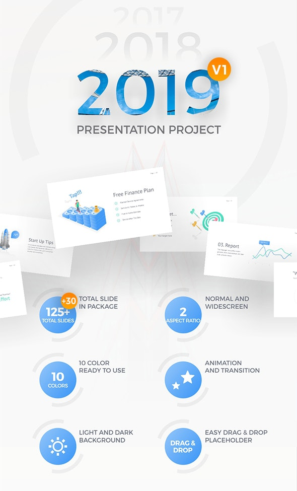 2019 Project Multipurpose Presentation Template - PowerPoint Templates Presentation Templates