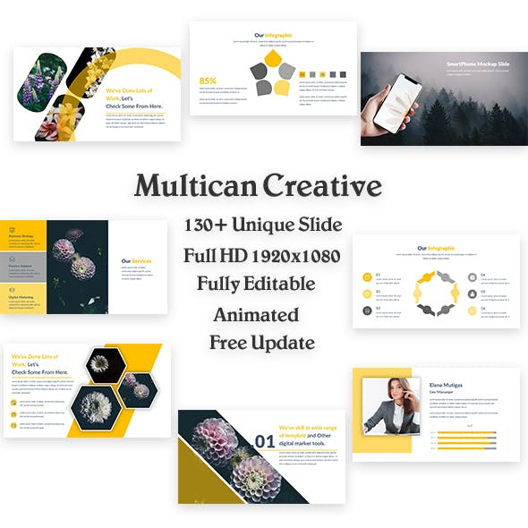 Multican Creative PowerPoint Template