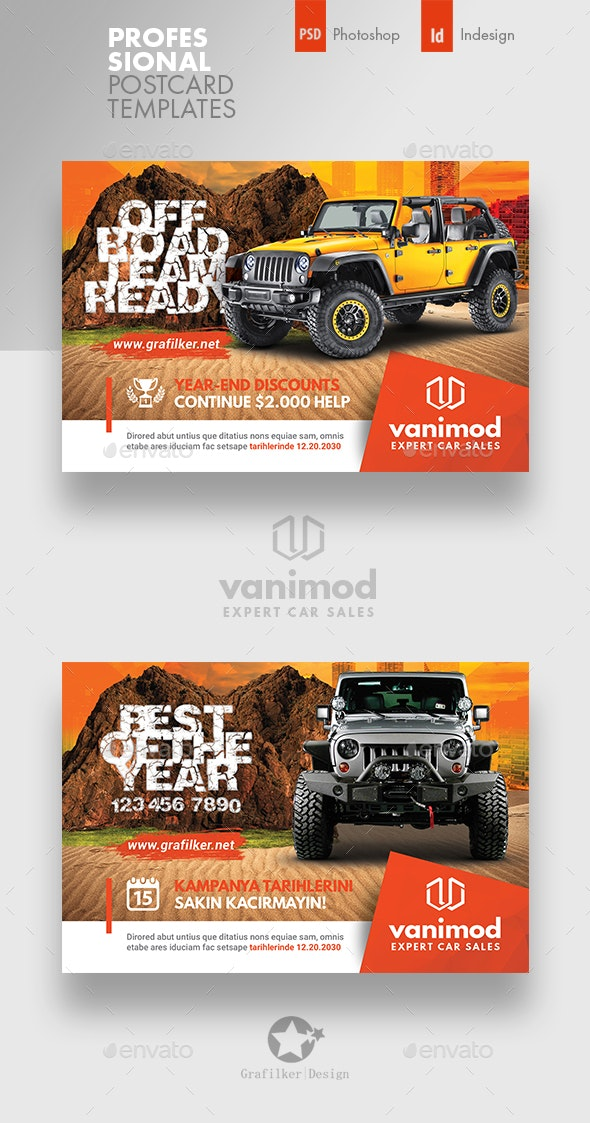 Car Sales Postcard Templates - Cards & Invites Print Templates