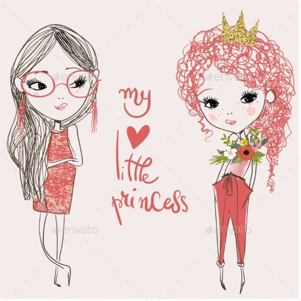 Cartoon Girls - People Characters