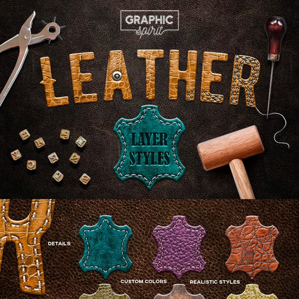 Leather Layer Styles For Adobe Photoshop