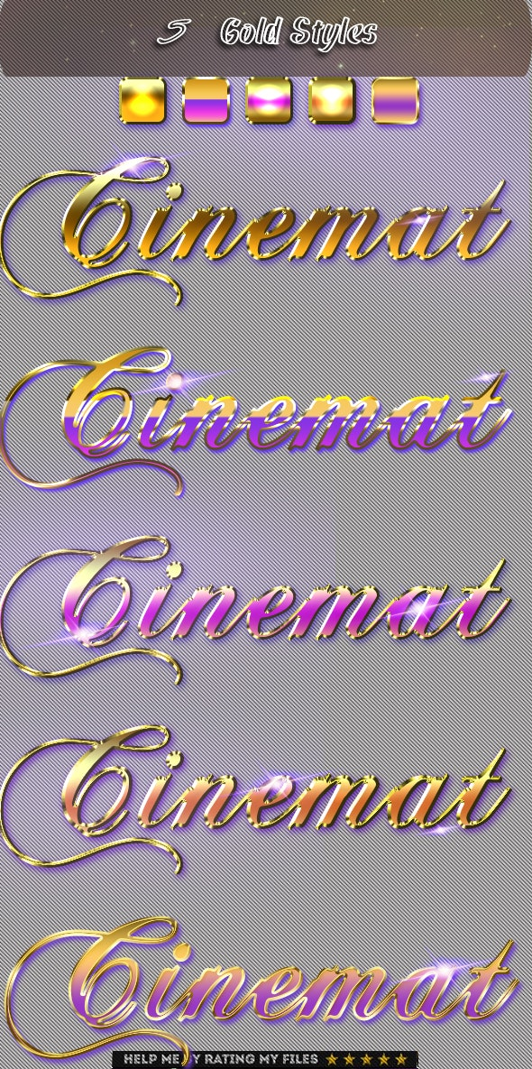 Realistic Gold Cinematic Text Effect 4 - Text Effects Actions