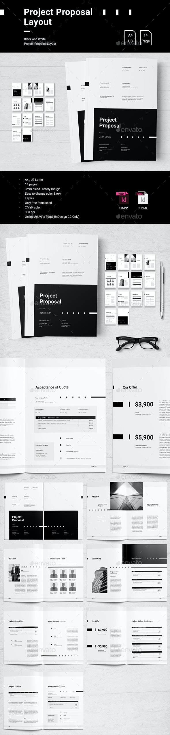 Project Proposal - Proposals & Invoices Stationery
