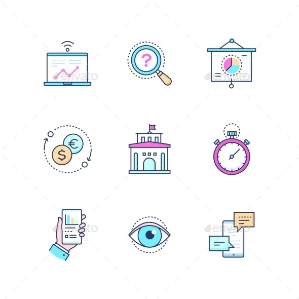 Business Concepts - Set of Line Design Style Icons - Concepts Business