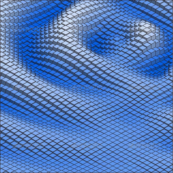 Abstract 3d Vector Background Blue Wave - Backgrounds Decorative