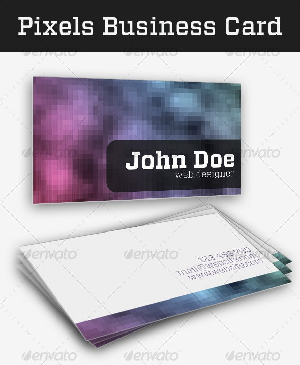 Pixels Business Card - Creative Business Cards