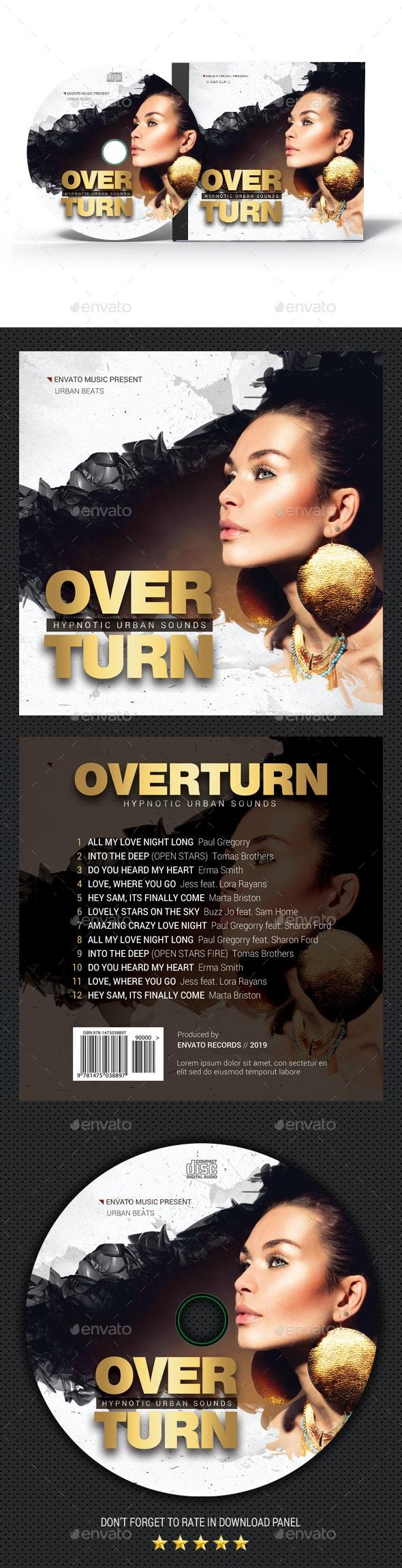Overturn CD Cover V2 - CD & DVD Artwork Print Templates