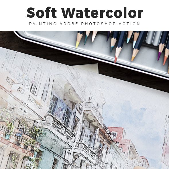 Soft Watercolor Painting Photoshop Action