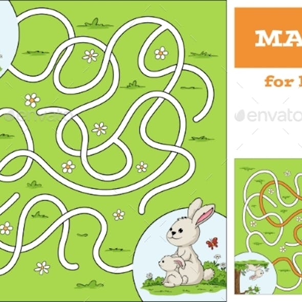 Help the Bunny To Find the Way Game For Kids