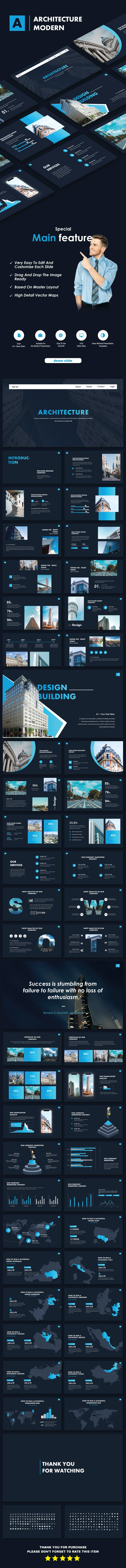 Architecture Modern Keynote Templates - Business Keynote Templates