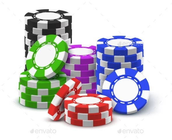 Stack or Tower of Casino Chips - Miscellaneous Vectors