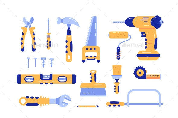 Set of Construction Tools - Industries Business