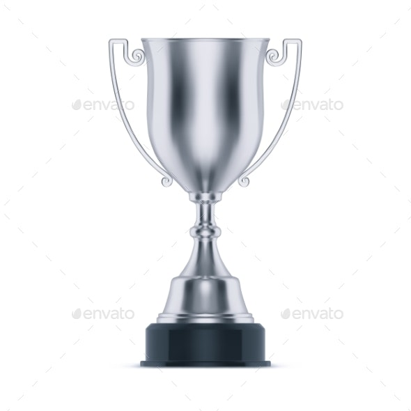 Silver Bowl or Trophy for Second Place at Sport - Man-made Objects Objects