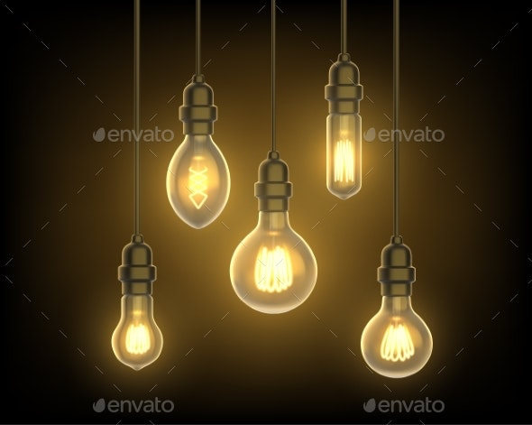Light Bulbs Hanging From Ceiling - Man-made Objects Objects